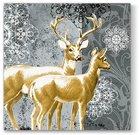 Servetėlės popierinės su elnių piešiniu 33x33 cm 127157 KLD
