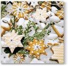 Servetėlės popierinės su sausainių piešiniu 33x33 cmcm 127148 KLD