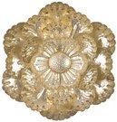 Sienos dekoracija Gėlė auksinės sp. metalinė 45 x 44 x 6 cm 128498