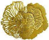 Sienos dekoracija Gėlė metalinė aukso spalvos 55x43x12 cm 104310