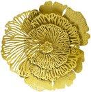 Sienos dekoracija Gėlė metalinė aukso spalvos 80x76x20 cm 104311