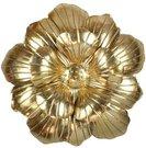 Sienos dekoracija gėlė metalinė H:50 W:51 D:11 cm aukso spalvos MWA879 išp.
