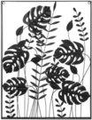 Sienos dekoracija Palmės lapai 61x4x80.5 cm (2) TOYJ18-051 SAVEX