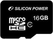 Silicon Power карта памяти microSDHC 16GB Class 10