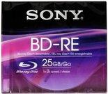 Sony Blu-Ray BD-RE 25GB 1-2x Speed, Slim Case