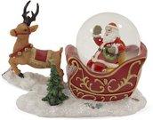Stiklinis rutulys Kalėdų senis su elniu 7,5x10x5,5 cm 116328 kld
