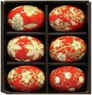 Suvenyras Kiaušinis keramikinis ornamentuotas H 6 cm(6) 69034