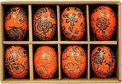 Suvenyras kiaušinis ornamentuotas keramikinis H 6 cm(8) 79854