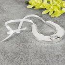 Suvenyras vestuvėms Pasaga baltos/sidabro spalvos H:8 W:8 D:1 cm WG911 Viddop