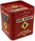 """Taupyklė metalinė """"Beer Money"""" H:11 W:10 D:10 cm HM663 išp."""