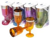 Taurės vynui 6 vnt. plastikinės 871125256664 177 ml (5 spalvų) ddm