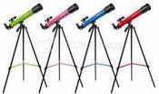 Teleskopas Bresser Junior 45/600 AZ Rožinis