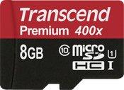 Transcend microSDHC 8GB Class 10 UHS-I 400X