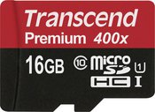 Transcend MicroSDHC Karte 16GB Class 10 UHS-I