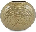 Vaza keramikinė aukso spalvos 31x36x13 cm 109715