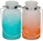 Vaza stiklinė su rankenėle 8.5x16 cm 871125202429 2 spalvų