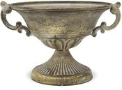 Vazonėlis-dubuo metalinis aukso sp. 15x24x21 cm 114066 ddm
