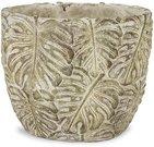 Vazonėlis Palmės lapai betoninis 16x19,5x12,5 cm 116379