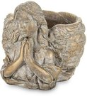 Vazonėlis - skulptūra Angelas auksinės spalvos betoninis 13x13x16 cm 135524