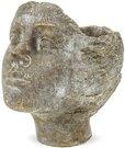 Vazonėlis - skulptūra betoninis Merginos veidas 18x18x14 cm 121092
