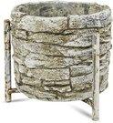 Vazonėlis - stovas gėlėms betoninis 11,5x12,5x12,5 cm 121096 ddm