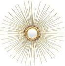 Veidrodis auksinės spalvos metaliniame rėme 79x79x2,5 cm 113811