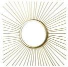 Veidrodis auksinės spalvos rėme 41 x 41 x 1 cm HTOP3672