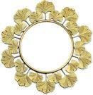 Veidrodis auksinės spalvos rėme apvalus 43 x 43 x 1 cm HTOP3726