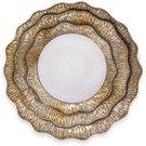 Veidrodis rudos/auksinės spalvos metaliniame rėme 55x55x4 cm 118742