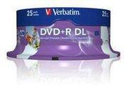 Verbatim double layer DVD+R 8.5GB 8X 25pack AZO cake box printable - 43667
