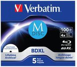 1x5 Verbatim M-Disc BD-R Blu-Ray 100GB 4x Speed inkjet print. JC