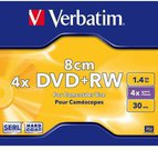 Verbatim mini DVD+RW 30/1.4GB 4X matte silver jewel box - 43565