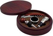 Vyno rinkinys medinėje apvalioje dėžutėje GS009-3