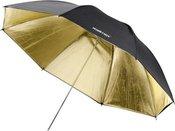 walimex Reflex Umbrella black/golden 2 lay, 109cm