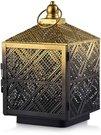 Žibintas metalinis auksinės/juodos sp 16 x 16 x 26,5 cm HTOA9681