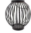 Žibintas-žvakidė metalinis H:32 W:20 D:20 cm HE754