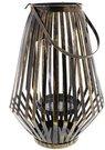 Žibintas-žvakidė metalinis H:44 W:22 D:22 cm HE752