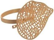 Žiedas servetėlėms auksinis Lapas DIA 4cm,6x4,5cm 3492