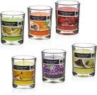 Žvakė stikliniame indelyje 8x10 cm 210 gr. 871125254740 (6 kvapų)