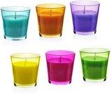 Žvakė stiklo indelyje 12x7.5 cm 75 gr. 871125292463 (6 spalvų)