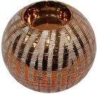 Žvakidė keramikinė rutulys 9x10x10 cm 93758 aukso spalvos