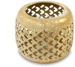 Žvakidė metalinė aukso spalvos 9,5x11x1 cm 115944