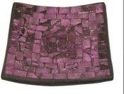 Žvakidė mozaika violetinė 15.5x15.5 cm 58951