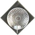 Žvakidė-sienos dekoracija iš metalo sidabro sp. H:21 W:21 D:8 cm HE868