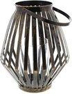 Žvakidė žibintas metalinė H:30 W:18 D:18 cm HE751