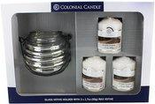 Žvakių rinkinys 3vnt. +žvakidė CCA163 dėžutėje