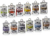 Žvakutės arbatinės 24vnt. stikliniame inde 871125252147 (12 spalvų)