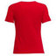 Women's T-shirt with your chosen photo, red V-neck