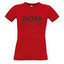 Women's T-shirt with your choice of photos, notes, red