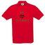 Vyriški polo marškinėliai su Jūsų nuotrauka, užrašu, raudoni
